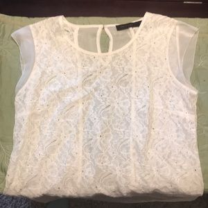 The Limited sleeveless lace top
